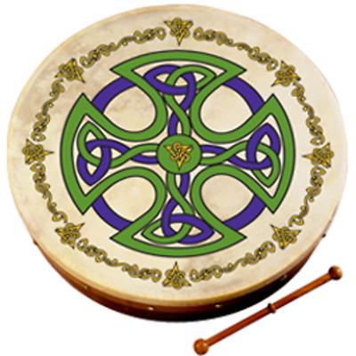 "Bodhran Drum - 8"" Brosna Cross"