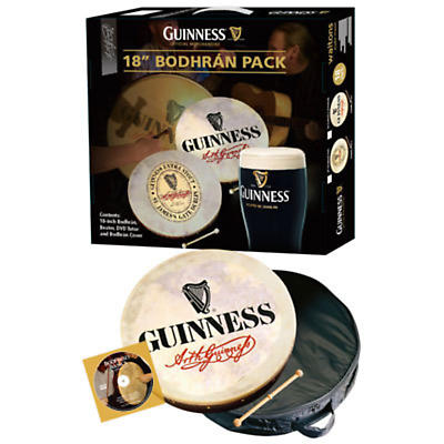 "Bodhran Drum - 18"" Guinness Signature Bodhran Package"