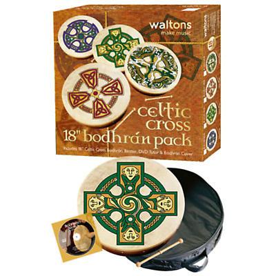 """Bodhran Drum - 18"""" Gallen Cross Bodhran Package"""