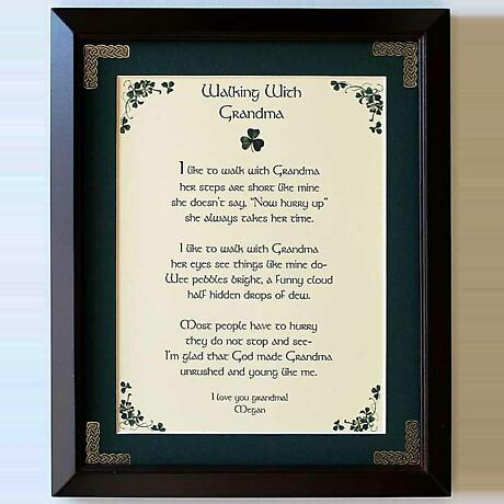 Personalized Walking with Grandma Framed Print
