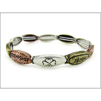 Three Tone Stretch Message Bracelet