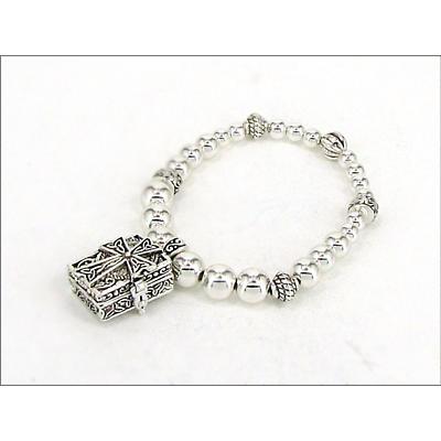 Celtic Bracelet - Celtic Cross Prayer Box Bracelet