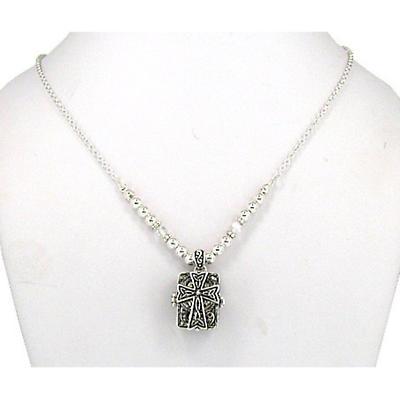Celtic Necklace - Celtic Cross Prayer Box Necklace
