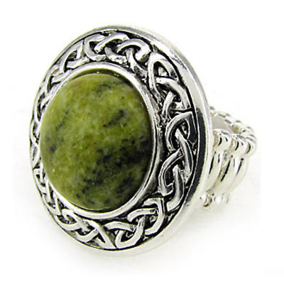 Celtic Ring - Yellow Jasper Celtic Knot Stretch Ring