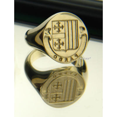 Irish Rings - Sterling Silver Personalized Coat of Arms Ring and Wax Seal