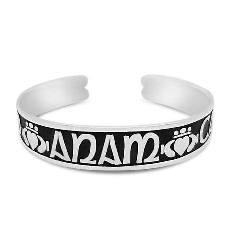 "Sterling Silver Mo Anam Cara ""My Soul Mate"" Bangle - Medium"