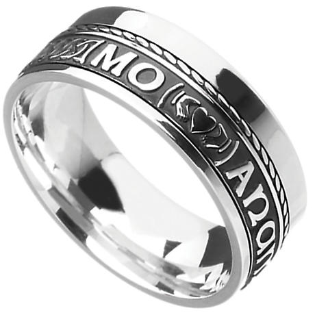"Irish Rings - Comfort Fit Mo Anam Cara ""My Soul Mate"" Wedding Band"