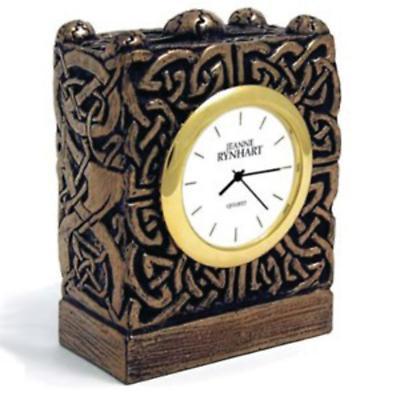 Rynhart Bronze Clock - Celtic Clock by Jeanne Rynhart