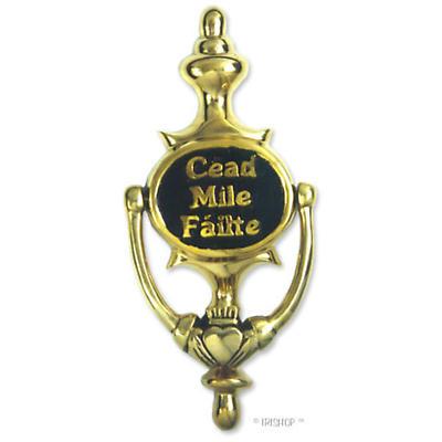 Cead Mile Failte Brass Doorknocker