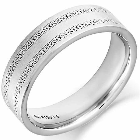 Irish Wedding Ring - Ladies Gold Twin Celtic Knot Wedding Band