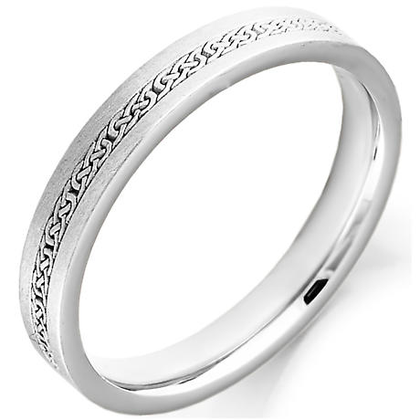 Irish Wedding Ring - Ladies Celtic Knot Gold Irish Wedding Band