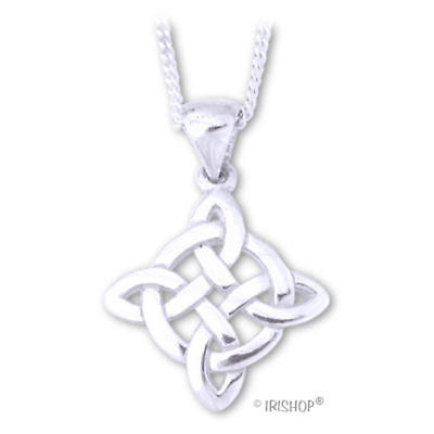 Sterling Silver Celtic Fancy Trinity Knot Pendant with Chain
