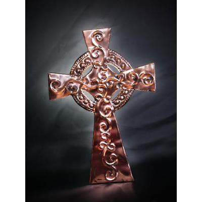 Copper Celtic Cross Wall Plaque