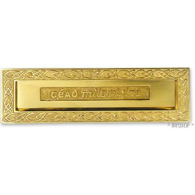 Cead Mile Failte Brass Letterbox Plate