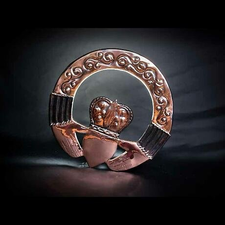 Copper Claddagh Wall Plaque