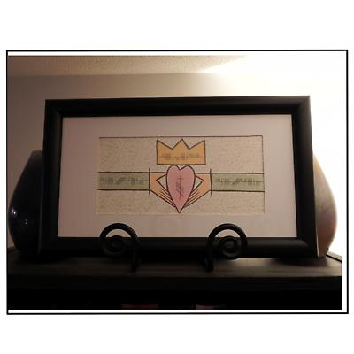 "Ogham ""Love, Loyalty and Friendship"" Claddagh Framed Print"