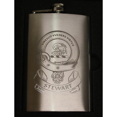 Coat of Arms Personalized 8oz Clan Hip Flask