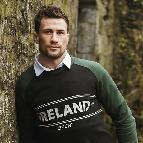 Green & Black Ireland Sport Crew Neck Sweatshirt