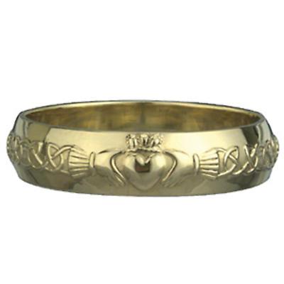 Claddagh Ring - Ladies 14k Gold Claddagh Wedding Band