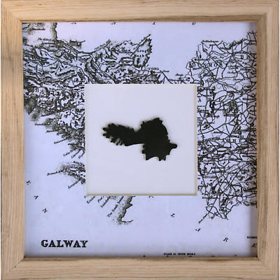 Counties of Ireland Framed Wall Hanging