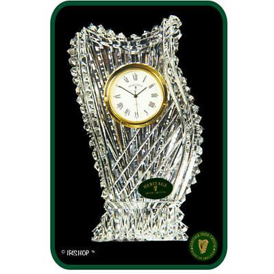 Irish Crystal - Heritage Crystal Harp Clock