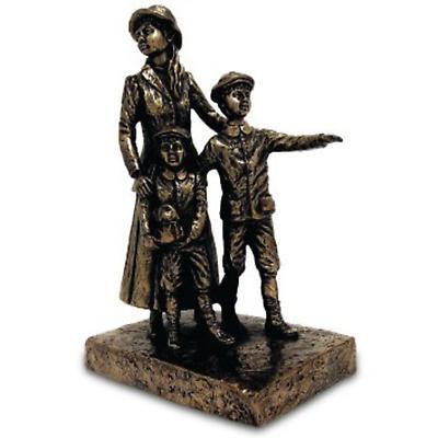 Rynhart Bronze Sculpture - Annie Moore, Cobh Sculpture by Jeanne Rynhart