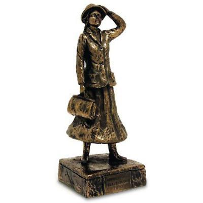 Rynhart Bronze Sculpture - Annie Moore, Ellis Island Sculpture by Jeanne Rynhart