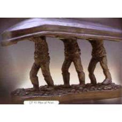 Rynhart Bronze Sculpture - Men Of Aran Sculpture by Jeanne Rynhart