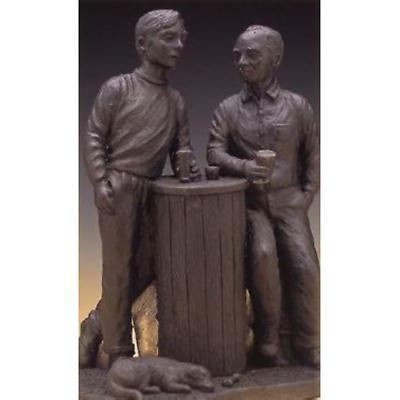Rynhart Bronze Sculpture - Having A Pint Sculpture by Jeanne Rynhart
