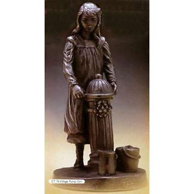Rynhart Bronze Sculpture - Village Pump Girl Sculpture by Jeanne Rynhart