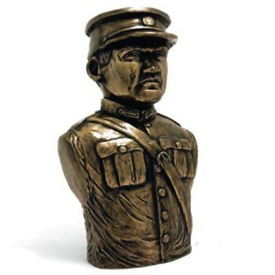 Rynhart Bronze Sculpture - Michael Collins Bust by Jeanne Rynhart