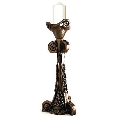 Rynhart Bronze Candleholder - Celtic Candleholder by Jeanne Rynhart