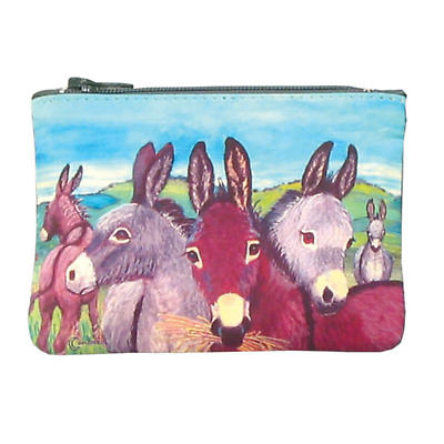 Leather Small Top Zip Purse - Donkeys