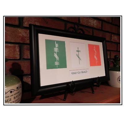 """Ogham """"Ireland Forever"""" Framed Print"""