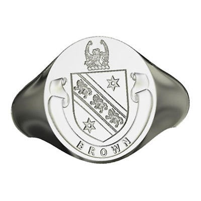 Irish Rings - Personalized Sterling Silver Coat of Arms Ring - Large