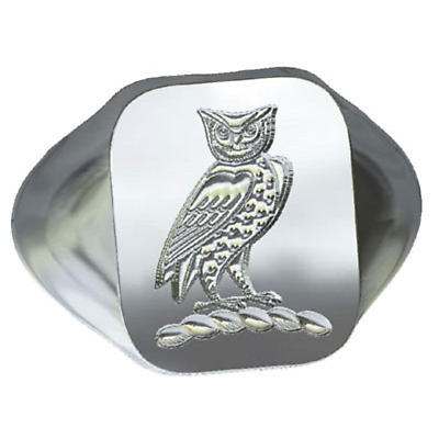 Irish Rings - Sterling Silver Family Crest Cushion Shaped Ring