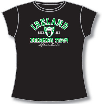 Irish T-Shirt - Ladies Ireland Drinking Team