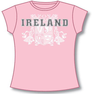 Irish T-Shirt - Ladies 4 Provinces of Ireland (Pink)