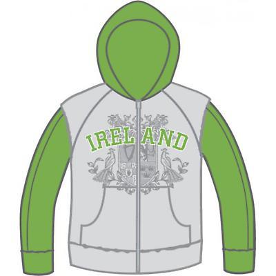 Ladies Ornate Ireland Logo Hooded Sweater
