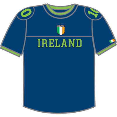 Ireland Combat T-Shirt - Blue