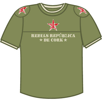 Rebels Republica De Cork Olive Green Combat T-shirt