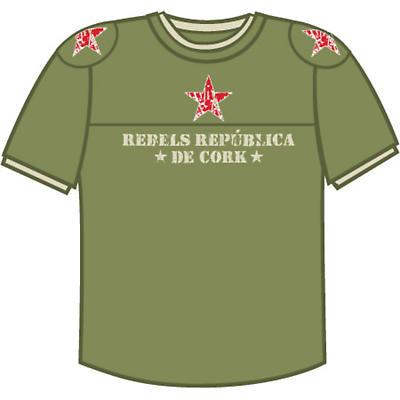 Rebels Republica De Cork Olive Green Combat T-shirt