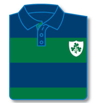 Shamrock Shield Striped Rugby Shirt