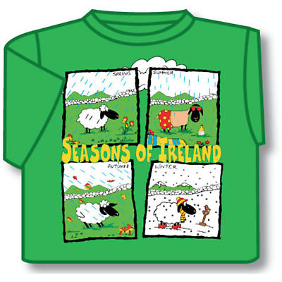 Kids Seasons of Ireland Irish T-Shirt