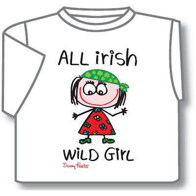 Kids T-Shirts: Kids T-Shirts: All Irish Wild Girl Kids T-Shirt