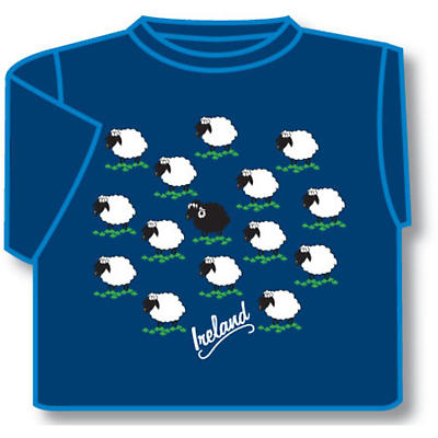 Kids T-Shirts: Kids T-Shirts: Kids Ireland Sheep T-Shirt Blue