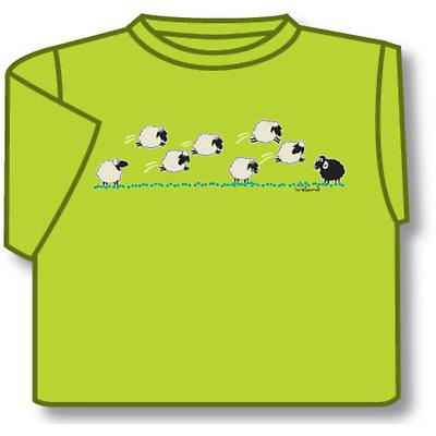 Kids T-Shirts: Kids T-Shirts: Kids Dancing Sheep T-Shirt (Lime Green)