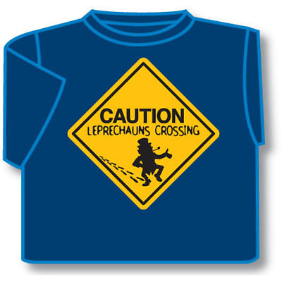 Kids T-Shirts: Kids T-Shirts: Caution Leprechauns Crossing Kids T-Shirt