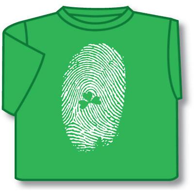 Kids T-Shirts: Kids T-Shirts: Kids Shamrock Fingerprint