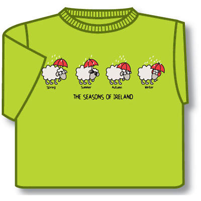 Kids The Seasons of Ireland T-Shirt - Lime Green